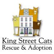 King Street Cats (Alexandria, Virginia) logo is a house surrounded by five cats above the organization name