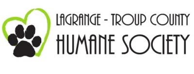 Lagrange Troup County Humane Society (Lagrange, Georgia) logo has a heart outline and a pawprint next to the org name