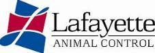 "Lafayette Animal Control Center (Lafayette, Louisiana) logo is a cursive ""L"" over red and blue color blocks next to the org name"