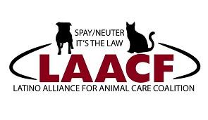 Latino Alliance for Animal Care Coalition (Panorama City, California) logo of dog, cat, circle, spay/neuter it's the law