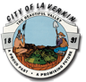 La Verkin Animal Control (La Verkin, Utah) logo of Native American, farmer, valley, city of La Verkin, 1891