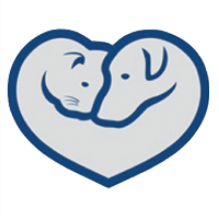 Lawrence Humane Society (Lawrence, Kansas) logo of cat and dog in heart with text Lawrence Humane Society