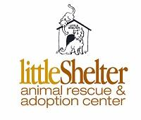 Little Shelter Animal Rescue Adoption Center (Huntington, New York) logo dog house with cat & dog
