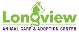"Longview Animal Care & Adoption Center (Longview, Texas) logo has a cat and dog profile with a heart forming the ""g"""