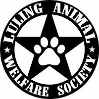 Luling Animal Welfare Society (Luling, Texas) logo is a pawprint inside a star inside a circle with the org's name around it