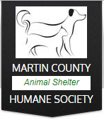 Martin County Humane Society (Loogootee, Indiana) logo of dog and cat silhouette, Martin County Animal Society Humane Society