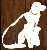 Martinsville-Henry County SPCA (Martinsville, Virginia) logo of squares with hand, paw, dog, cat, house, SPCA