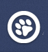 McKinley County Humane Society (Gallup, New Mexico) logo is a white pawprint in a circle on a blue background