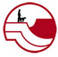 Mesa County Animal Services (Whitewater, Colorado) logo of red and white mountains, person with leash and dog