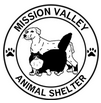 Mission Valley Animal Shelter (Polson, Montana) logo is a dog & cat in a circle with the org name & pawprints around the outside