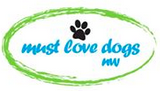 "Must Love Dogs NW (Vancouver, Washington) | logo pawprint and text ""must love dogs nw,"" green oval circle"