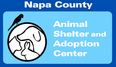 Napa County Animal Shelter and Adoption Center (Napa, California) logo is cat dog and bunny in circle to left of org name