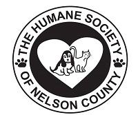 Humane Society of Nelson County (Bardstown, Kentucky) logo has a dog and cat in a heart in a circle with the org name around it