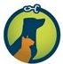 New Leash on Life (Lebanon, Tennessee) logo of green circle, leash, clip, blue dog silhouette, orange cat silhouette