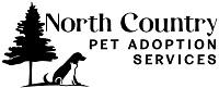 North Country Pet Adoption Services (Glenfield, New York) logo is a tree next to a cat and dog sitting facing the org name