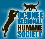 Oconee Regional Humane Society (Greensboro, Georgia)  of black dog and cat, ORHC Oconee Regional Humane Society