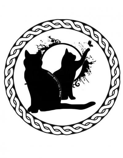 Outlaw Kitties Trap Neuter Return & Rescue Crop. (Hyattsville, Maryland) logo cats in circle
