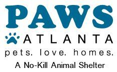 PAWS Atlanta (Decatur, Georgia) logo with text 'pets love homes'