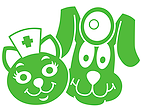 P.E.T.S. Low Cost Spay and Neuter Clinic (Wichita Falls, Texas) logo is a green dog doctor and cat nurse