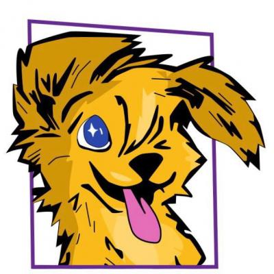 Pack Leaders Rescue of CT, INC (East Hartford, Connecticut) logo cartoon dog face