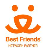 RescueCats (Fayetteville, Georgia) logo is the Best Friends Network Partner logo