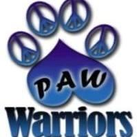 Paw Warriors, Inc. (Spring Hill, Florida) logo pawprint made with peace signs