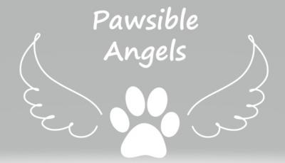 Pawsible Angels (Findlay, Ohio) logo of paw and wings