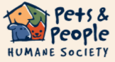 Pets and People Humane Society (Yukon, Oklahoma) logo is animal faces in the shape of a house with org name to right