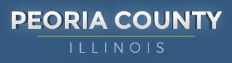 Peoria County Animal Protection Services (Peoria, Illinois) logo is county name in white on blue background