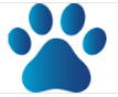 Pet Adoption and Welfare Society (Dahlonega, Georgia) logo of paw print, pet adoption welfare society, paws dahlonega