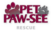 Pet Paw-see (Great Falls, Montana) logo is the organization name with two paw prints