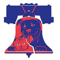 Philadoptables (Philadelphia, Pennsylvania) logo of liberty bell, cat, dog, helping Philly's homeless animals every day