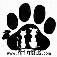 Friends of the Pitt County Animal Shelter (Greenville, North Carolina) logo of paw, cat and dog