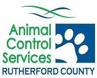 Rutherford County Animal Control Services (Rutherfordton, North Carolina) | logo of white paw, blue square, Animal Control