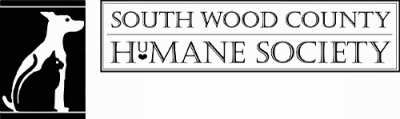 South Wood County Humane Society (Wisconsin Rapids, Wisconsin) logo dog and cat black white silhouette