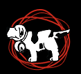 Save My Tail (Anaheim, California) logo with dog in red circle