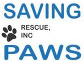 Saving Paws Rescue, Inc. (Rye Brook, New York) logo is the organization name with a pawprint