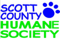 Scott County Humane Society (Georgetown, Kentucky) | logo of blue paw print, for pet's sake, Scott County Humane