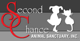 Second Chance Animal Sanctuary (Norman, Oklahoma) | logo of white dog, white cat, Second Chance Animal Sanctuary, Inc.