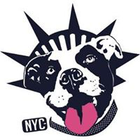 "Second Chance Rescue (Whitestone, New York) logo is a Pit Bull dog head with the Statue of Liberty crown and ""NYC"" on its tag"