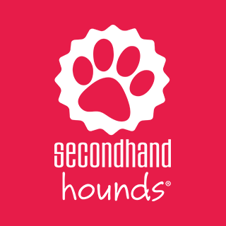 Secondhand Hounds (Minnetonka, Minnesota) | logo of white paw print, red cap, secondhand hounds