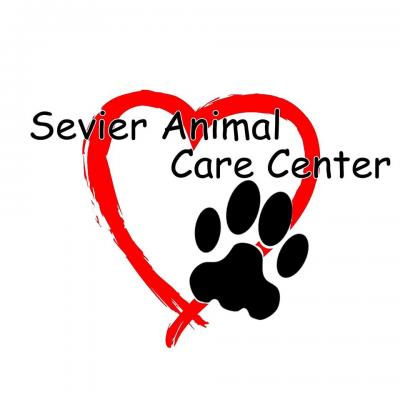 Sevier Animal Care Center (Sevierville, Tennessee) logo heart and pawprint