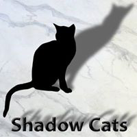 Shadow Cats (Round Rock, Texas) logo is a black cat and the organization name with shadows behind them