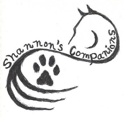 Shannon's Companions (Cabool, Missouri) logo is a pencil drawing outline of a horse and a pawprint and the organization name
