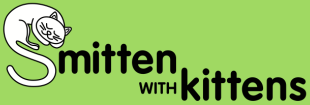 "Smitten with Kittens (Tallahassee, Florida) logo is the organization name with a sleeping cat forming the ""S"""