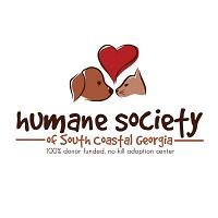 Humane Society of South Coastal Georgia (Brunswick, Georgia) logo with dog cat heart