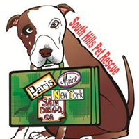 South Hills Pet Rescue and Rehabilitation Resort (South Park, Pennsylvania) | logo of brown and white dog holding green suitcase