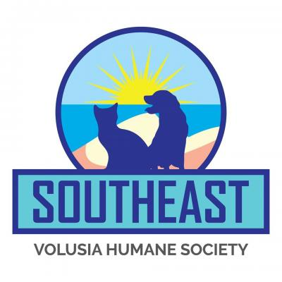 Southeast Volusia Humane Society (New Smyrna Beach, Florida) logo dog cat sunshine on beach