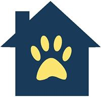 Southern California Golden Retriever Rescue (Los Angeles, California) | logo of navy house, yellow pawprint