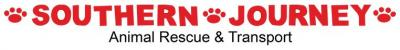 "Southern Journey Animal Rescue and Transport (Marietta, Georgia) logo is ""Southern Journey"" with pawprints"